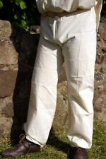 Medieval/LARP/VIKING/RE-ENACTMENT CALICO DRAWSTRING TROUSERS All Sizes