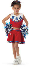USA Child Girls Patriotic Cheerleader Dress Up Costume