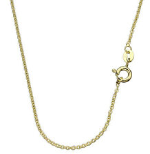 Gold Plated Sterling Silver Fine Cable Chain Necklace