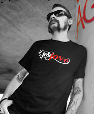 Mens Rockabilly T-Shirt, Tattoo T-shirt, Ink Love, Organic, Black, SALE