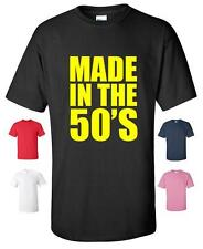 MADE IN THE 50'S RETRO 60TH BIRTHDAY PRESENT FUNNY T-SHIRT MENS WOMENS
