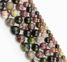 round natural multicolour tourmaline loose Beads 15""