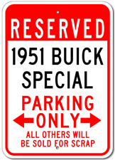 1951 51 BUICK SPECIAL Parking Sign