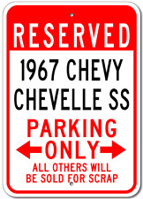 1967 67 CHEVY CHEVELLE SS Parking Sign