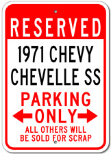 1971 71 CHEVY CHEVELLE SS Parking Sign