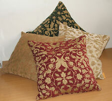 CHENILLE FLORAL DESIGN CUSHION COVER-MORE SIZES/COLOURS
