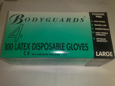Bodyguard Latex Gloves - POWDER FREE - ALL SIZES