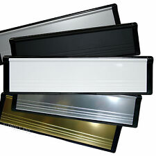 "10"" UPVC DOOR LETTERBOX WHITE GOLD BLACK CHROME INCH"