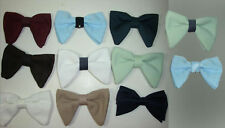 Formal Clip On Cloth Bow Neck Tie Bowtie Costume Accessory