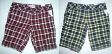 AEROPOSTALE Yarn-dyed Womens Plaid Bermuda Shorts NWT #8153