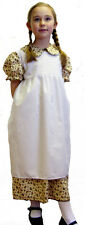 Victorian/Edwardian FLORAL DRESS & APRON all ages