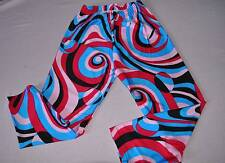 Bal Togs Multi Colored Crop Leggings Adult size XSmall Petite costume or dance