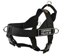 No Pull Harness with Patches CERTIFIED POLICE K9