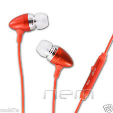 ORANGE HANDSFREE EARBUD EARPHONE HEADSET+MIC SAMSUNG