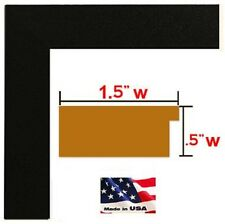 1.5 inch Black Solid Photo Picture frames Poster frames