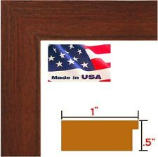 """Custom 1"""" Cherry Maroon Solid Picture Poster frame-8 inch wide -8"""" Panoramic"""