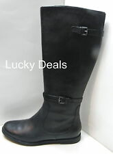 New COLE HAAN Air Petra Flat Riding TALL Leather Winter BOOTS BLACK all sizes