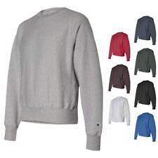 CHAMPION Sports Mens Size S-XL 2XL 3XL 12oz Reverse Weave Fleece Crew Sweatshirt