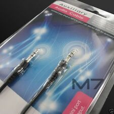 BLACK AUXILIARY CABLE CORD for MOTOROLA PHONES - JACK 3.5mm CAR AUDIO AUX WIRE