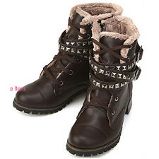 New Trend Womens Classic Brown Winter Snow Warm Boots Shoes
