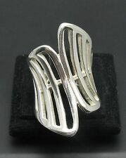 STYLISH LONG STERLING SILVER RING SOLID 925 NEW SIZE J - T