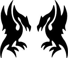 "Two Dragon Wyvern Decals   3.75""x2"" choose color!  vinyl sticker"