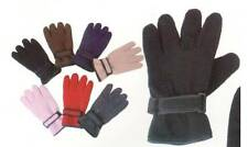 1 Pair Women's Ladies' Winter Fleece Gloves Thermal Insulation 5 Colors One Size