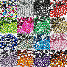 1000 Crystal Flat Back Acrylic Rhinestone Gem Diamante Bead Nail Card Decoration