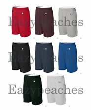 "Champion Mens S-XL, 2X 3XL Athletic Cotton Gym Shorts 6"" Inseam No Pocket C-8187"