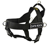 No Pull Dog Harness with Removable Fun Patches CATS ROCK
