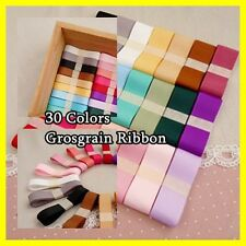 "3/8"" 9mm Double face Wedding Gift Grosgrain Ribbon Craft 30 colors"