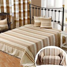 Homescapes Morocco 100% Cotton Throw Bedspread Beige