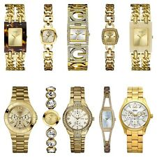Guess Ladies' Gold Plated Stainless Steel Bracelet Fashion Watch Range