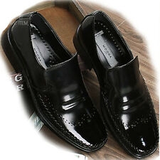 New Leather Mens Dress Formal Shoes Slip On Loafers Black Casual Limited