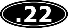 ".22 Cal Ammo Ammunition Bullet Decal 12""x5"" choose color!  vinyl sticker"