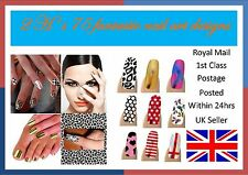 NAIL ART FOIL WRAPS. CHOOSE FROM OVER 70 DESIGNS
