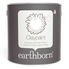 EARTHBORN CLAYPAINT WHITE ECO PAINT REDUCES DUST AND ALLERGENS VOC AND OIL FREE