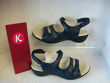 SALE LADIES K BY CLARKS SANDALS OPEN MIND NAVY FITTING EE