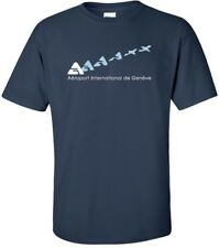 Aéroport International de Genève Vintage Logo Swiss Airport Aviation T-Shirt