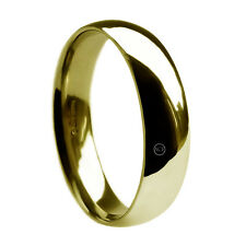 8mm 9ct Yellow Gold Wedding Rings Court Comfort Profile 375 UK HM 10g Heavy Band