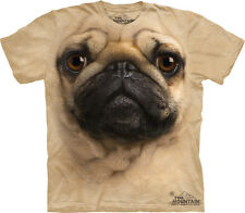 Pug Dog Face The Mountain Adult and Child Size T-Shirt