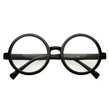 Vintage Inspired Round Spectacles UV400 Circle Clear Lens Glasses 8034