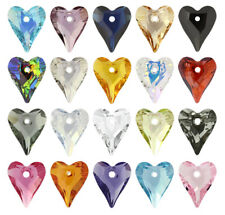 SWAROVSKI ELEMENTS 6240 Crystal Wild Heart Pendant - All Sizes & All Colours