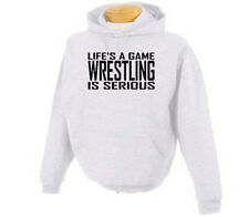 Wrestler Life's A Game Wrestling Sports Adult Hoodie