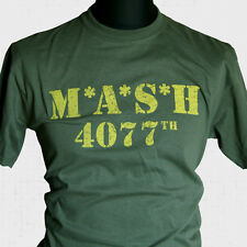 MASH T SHIRT US ARMY WWII PARA SAS MOVIE TV RERO 70'S 80'S KOREA VIETNAM COOL