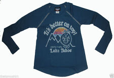 New Authentic Junk Food Little Miss Naughty Its Better on Top Thermal Shirt