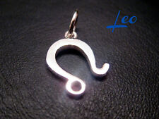 Leo Zodiac Charm 3D handmade Sterling Silver String Silver Ends Clasp by JOLLER