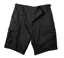 Ultra Force BDU Shorts-Choice of 100% Cotton Rip-Stop or Poly/Cotten Blend - BLK
