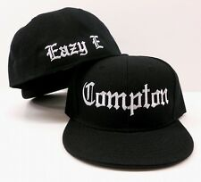 Black Vintage Compton Eazy E Flat Bill Fitted Hat  Baseball Snapback Cap Hat