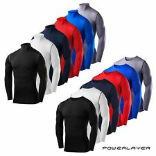 Mens Boys Golf Compression Base Layer Long Sleeve Thermal Under Sport Top Shirt
